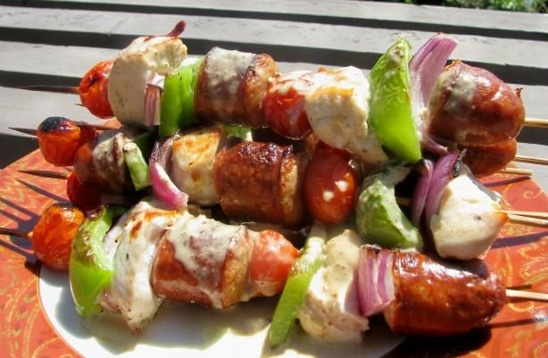 Cajun Kebabs With Chicken And Andouille Recipes — Dishmaps