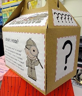 The Mystery Box . Great for inferencing and asking questions. Repinned by SOS Inc. Resources.  Follow all our boards at pinterest.com/...  for therapy resources. Saw a teacher do something like this in her classroom & thought this would be a great way to mix guidance lesson on careers w/ inferencing! I'm HUGE on mixing guidance w/ academics!
