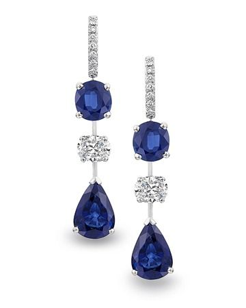 Sapphire and Diamond Earrings.