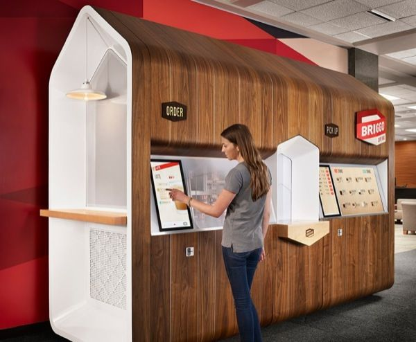 The shoddy Coffee vending machines of the past are outdated introducing Briggo this robot barista is just what the modern office needs!