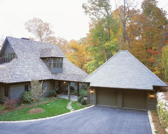 Detached garage home exterior pinterest spaces for Building a detached garage on a slope