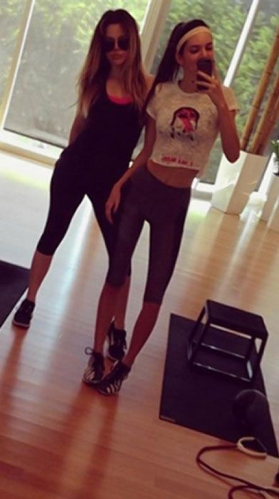 Kendall Jenner hits the gym with sister Khloe Kardashian...
