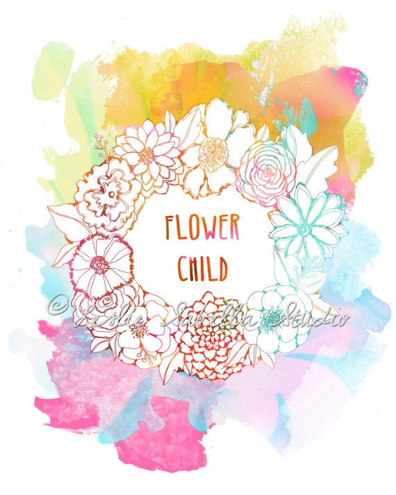 Flower Child Art Print  8x10 Metallic Print by LeslieSabella, $20.00