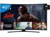 """Smart TV LED Curva 40"""" Samsung 4K Ultra HD - 40KU6300 Conversor Digital 3 HDMI 2 USB Wi-Fi"""
