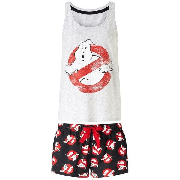 Missimo Ladies Ghostbusters Pj Set (34 CAD) ❤ liked on Polyvore featuring intimates, sleepwear, pajamas and lipsy