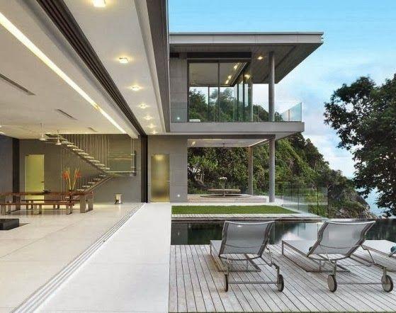 Desain Villa Modern - Di Indonesia villa telah cukup identik dengan sebuah daerah puncak atau juga pegunungan, misalnya di kawasan Provinsi Jawa Barat daerah Bogor, Bandung, Ciwidey, dan lain-lainya yang menjadi tempat favorit membangun villa.