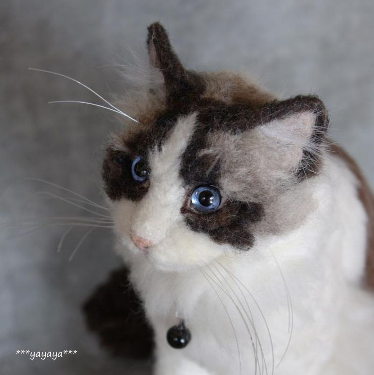 YEP! It's needle felted ~another cat by yayaya...what an artist!