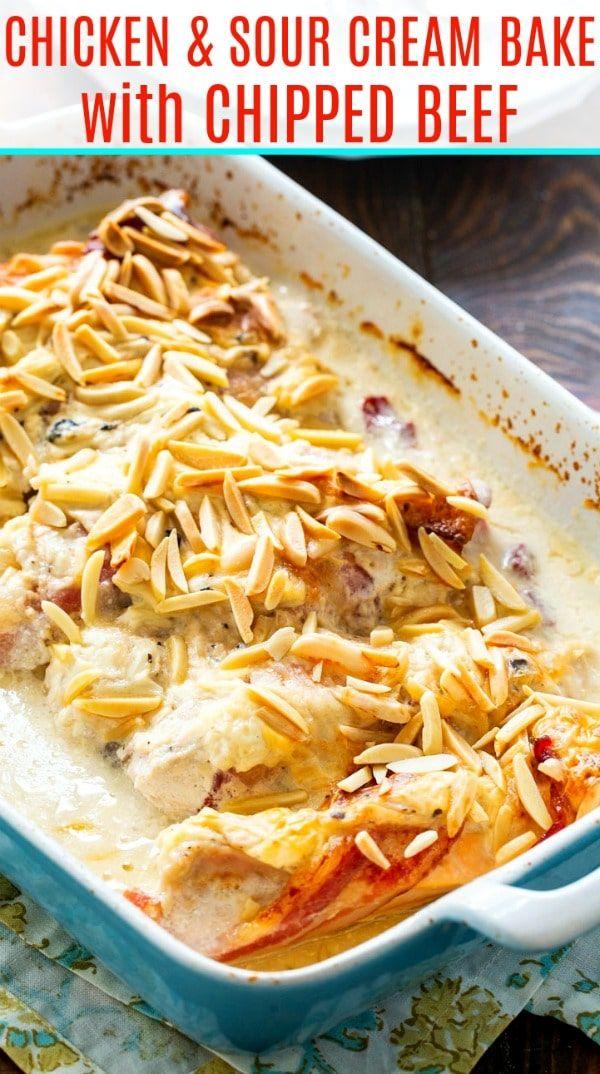 Chicken And Sour Cream Bake Company Chicken Recipe In 2020 Favorite Recipes Chicken Cooking Recipes