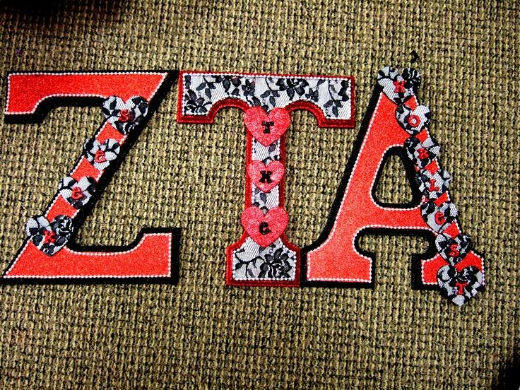 Sorority ZTA letters for my little