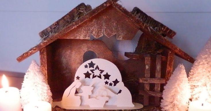 crèche de Noël chinée par S  dans un vide-grenier pour3 €   lot de sapins enneigés trouvés dans une boutique-bazarl'an dernier   ...