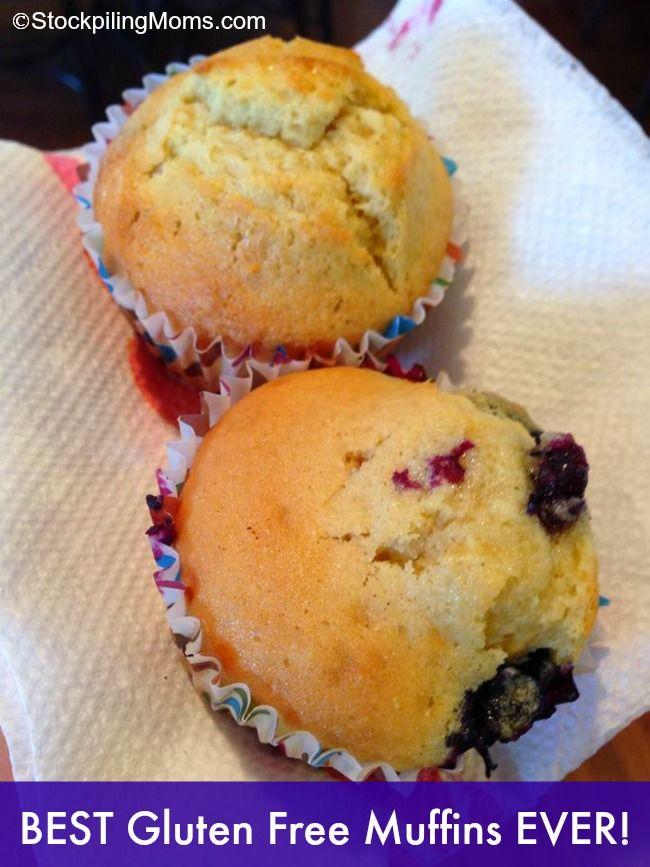 Best gluten free blueberry muffins recipe! #glutenfree #recipe