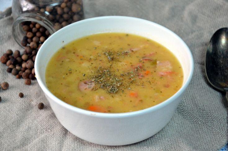 Przepis na grochówke - gęsta zupę krem z grochu/ Bean Soup
