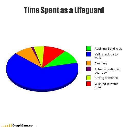 Lifeguard Pie chart. My boyfriend said that this is extremely accurate haha