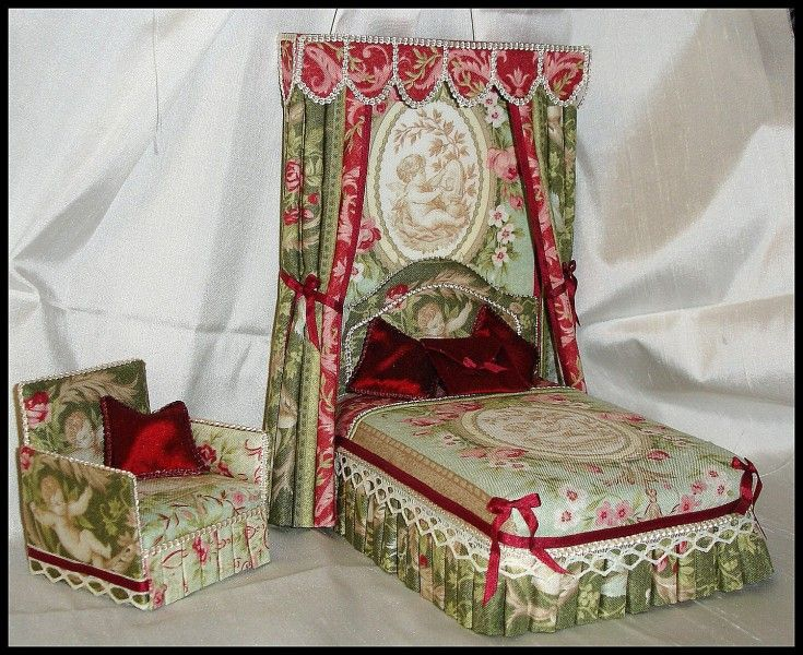 miniature victorian bed