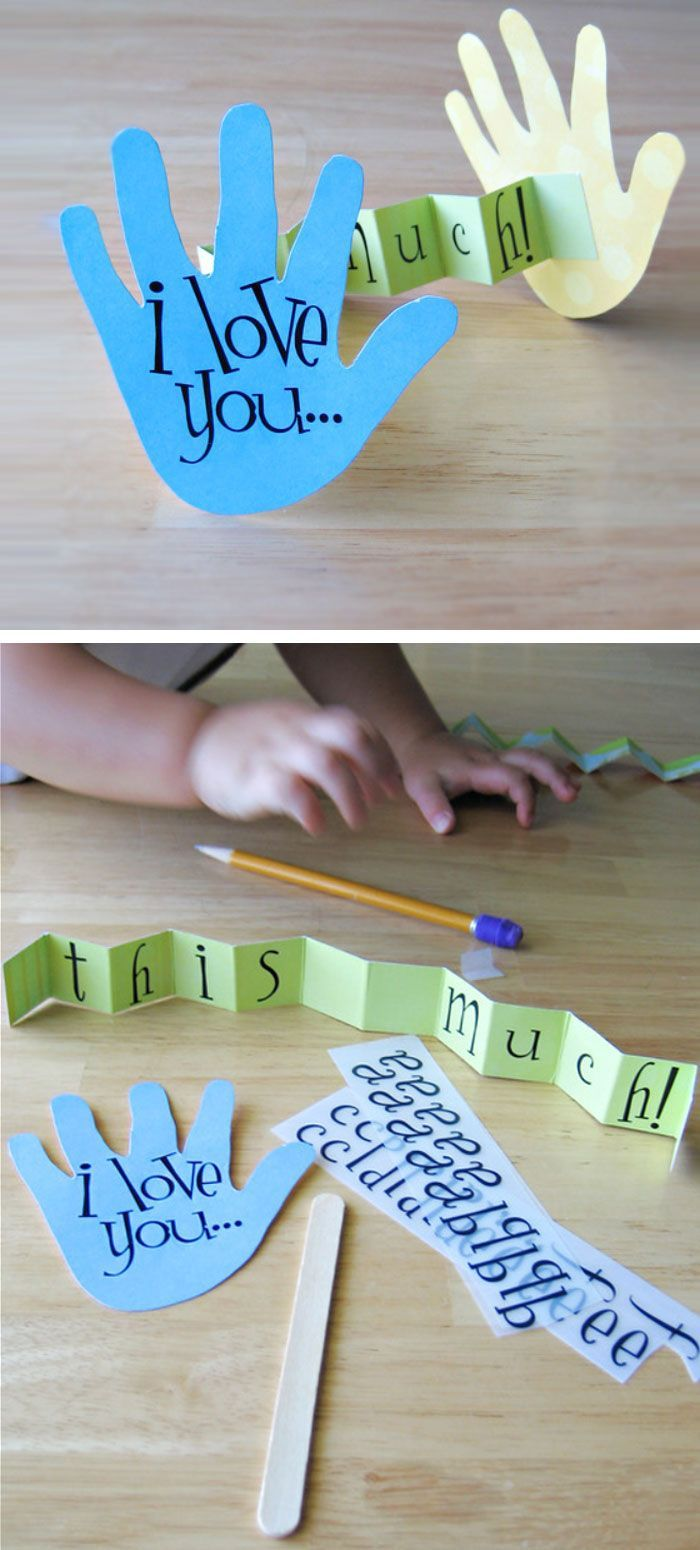 I Love You This Much Card   Click Pic for 22 DIY Mothers Day Craft Ideas for Kids to Make   DIY Mothers Day Crafts for Toddlers to Make