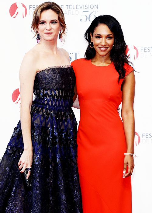 Danielle Panabaker and Candice Patton attend Monte Carlo TV festival.