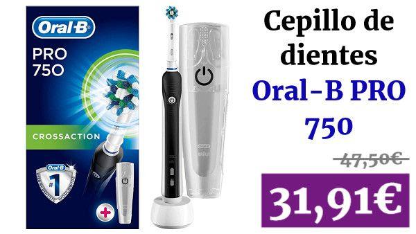 Oral B Pro 750 Crossaction Pack Regalo Cepillo De Dientes Eléctrico Recargable Salud Vadegangas Cepillo De Dientes Eléctrico Cepillos De Dientes Cepillo