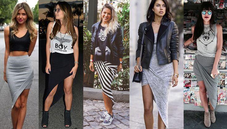 saia assimetrica estampada moda 2015 - Pesquisa Google