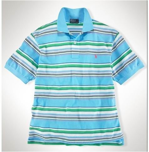 outlet ralph lauren Ralph Lauren Men\u0027s Classic-Fit Multi-Striped Short  Sleeve Polo Shirt