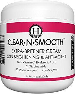 Moisturizing Skin Lightening, Whitening, Anti-Aging Cream with Hyaluronic Acid, Vitamin C, Niacinamide, and 5 strong organic skin lighteners, 4 oz (120ml)