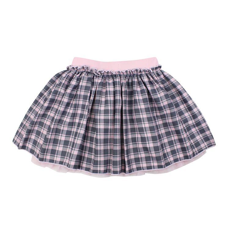 Мода 2017 г. весенние брендовые domeiland дети девочки одежда-пачка клетчатая юбка для из хлопка с бантом детская красивая юбка в складку одежда
