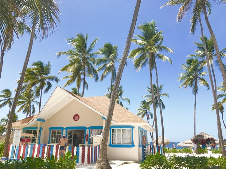 Set on the white sand beaches of Punta Cana, Dominican Republic, amidst hundreds of coconut palm trees, and calm warm