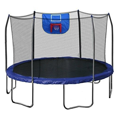 Spectacular Trampoline Basketball Hoop Bouncy House Sports Outdoor Recreation Exercise Wheel