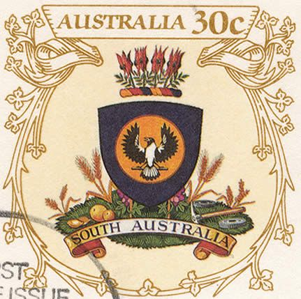 South Australian Coat of Arms - Stamp