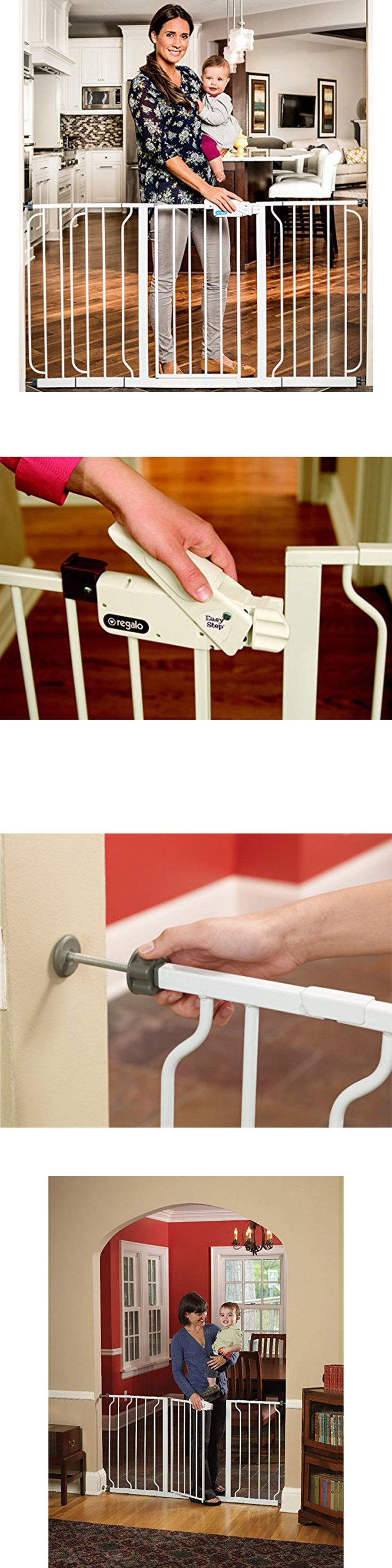 Baby Safety and Health 20433: Walk Through Safety Gate Extra Wide Baby Child Pet Dog Cat Easy Close Door White -> BUY IT NOW ONLY: $50.98 on eBay!