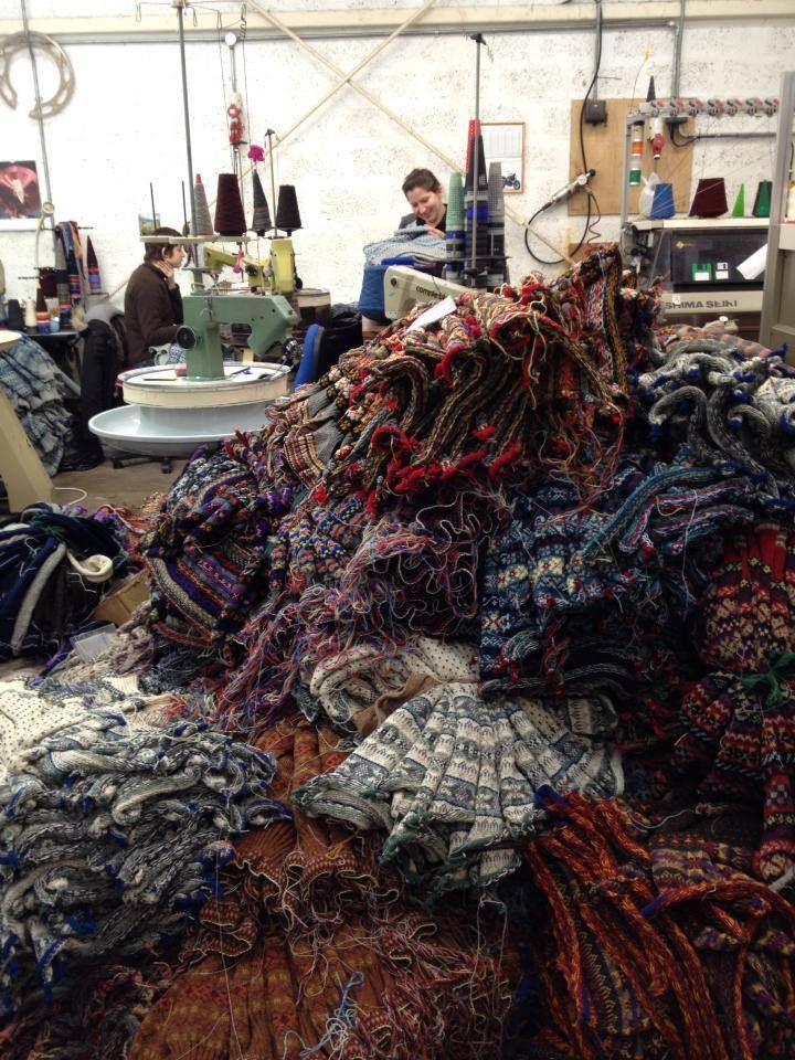Knitting Holidays Shetland : Sandness woolen mill fair isle shetland knitting