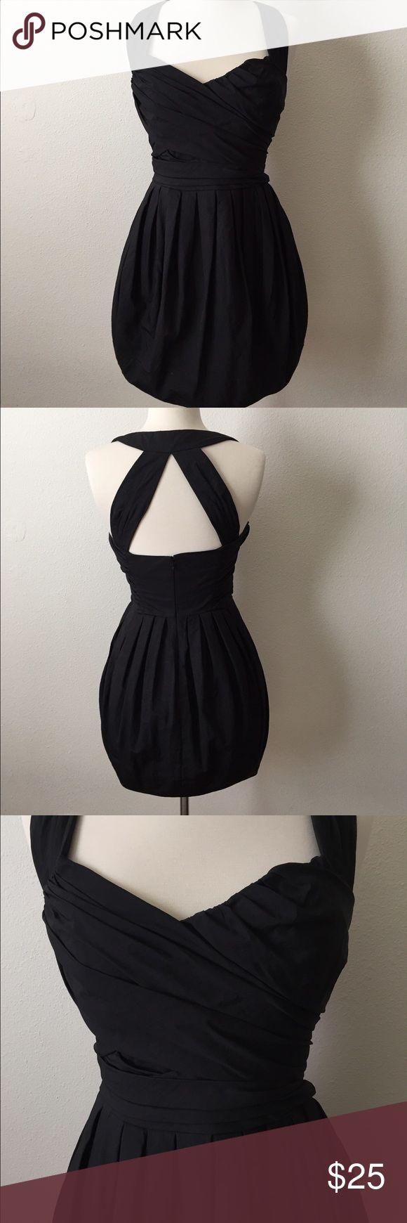 Allsaints spitalfields black dress sz. 4 Black mini halter dress sz. 4. Structured fabric. Fuller skirt. Allsaints Dresses Mini