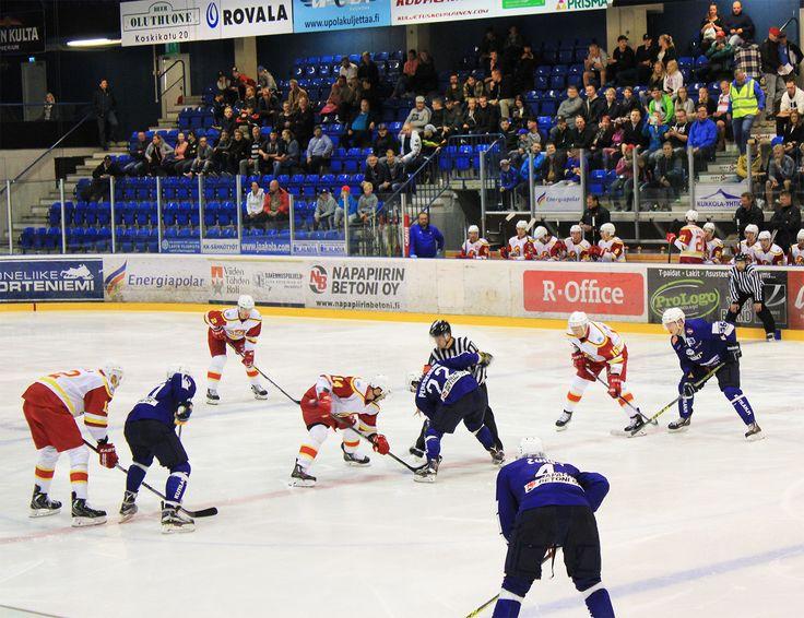 Jokerit - RoKi ice-hockey training match @ Lappi Areena in August 2016, next to Santasport in Rovaniemi, Finland.