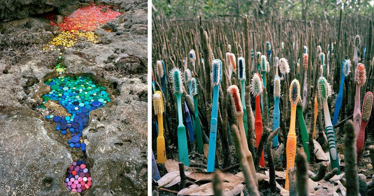 Artist Creates Art From Trash That Washes Up In Mexico From 50 Countries Around The World | Bored Panda