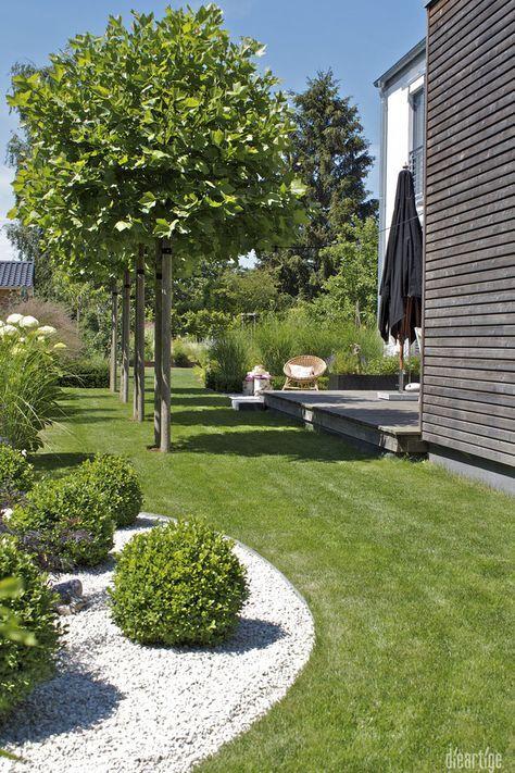 dieartigeBLOG – Sommergarten mit Schatten von Platanen, Buchs, Ballhortensien, G… – Bibi