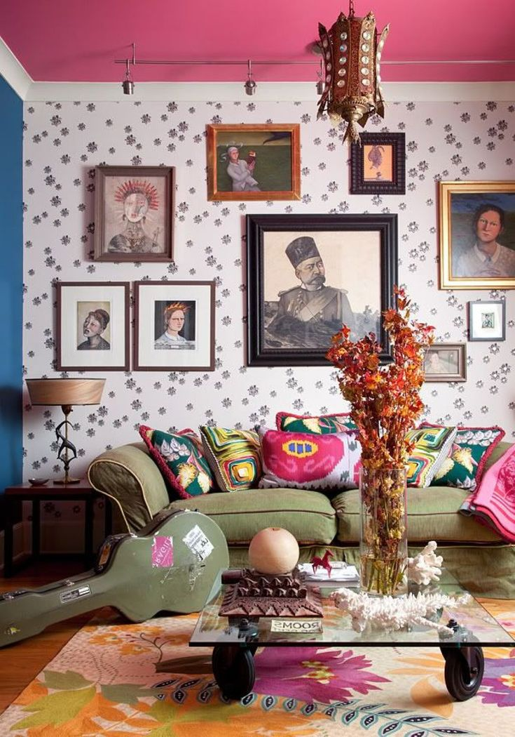 Interior , Free Yourself with Bohemian Style Decor for Hippie Look : Inspiring Bohemian Living Room For Cheerful Design