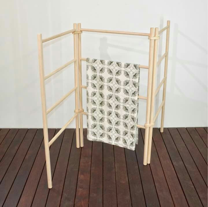 Wooden zig zag rack NZ Made by Black Sand Furniture