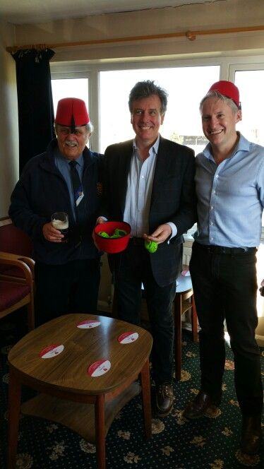 A charity event at Stroud Rugby with local MP Neil Carmichael
