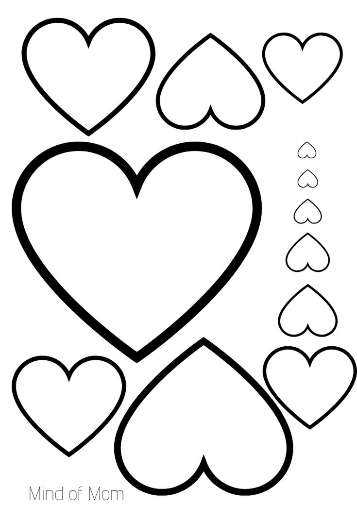 Free printable. Hearts printable for Valentine's Day! A4
