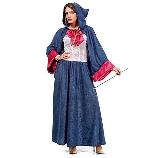 Cinderella Gute Fee Kostum Damen Marchen Kostum Blau Pink Xs