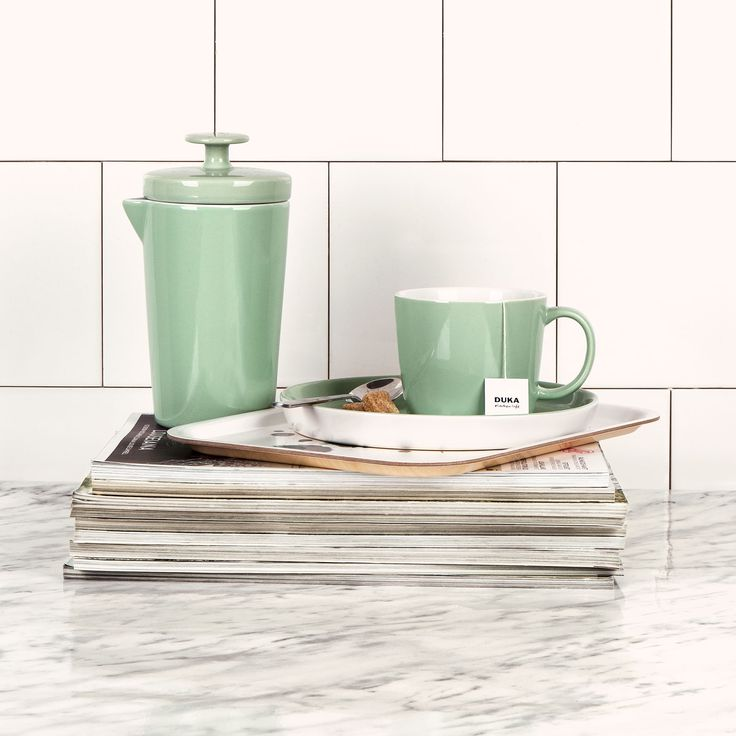 Stockholm - our stoneware series by our designer Karin Steen. New this fall is the new season colors and assiette, bowl, sugar bowl, egg cup and milk jug. Available in white, beige, light green and dark green.