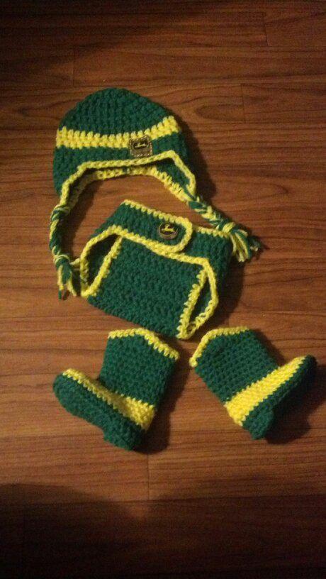 John Deere Crochet Newborn Set By Emericksessentials On