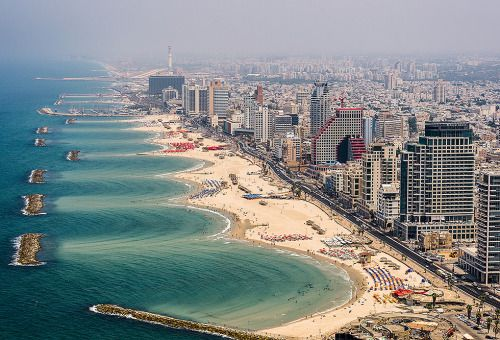 Coast of Tel Aviv, Israel