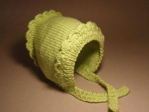 Детские шапочки крючком и спицами.№3 Шапочка для новорожденного - YouTube