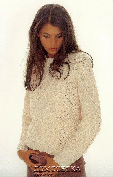 белый пуловер от Ким Харгривз