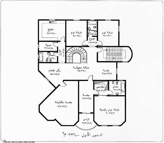 تصاميم فلل صغيرة سعودية Floor Plans How To Plan Diagram