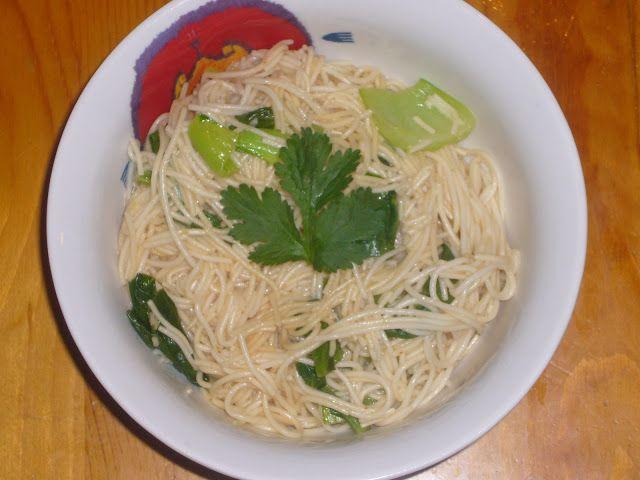 Bok Choy Asian Noodles | Asian Food | Pinterest