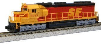 "Model Trains Kato Southern Pacific and Santa Fe Diesel Locomotive EMD SD45 """"Kodachrome"""" 176-3121 Cab No 5345 N Scale"