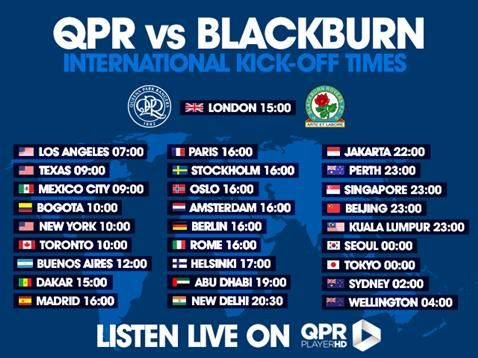 Listen to full match commentary from QPR v Blackburn Rovers on QPR PlayerHD