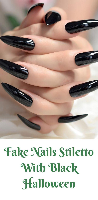 Черные длинные ногти фото