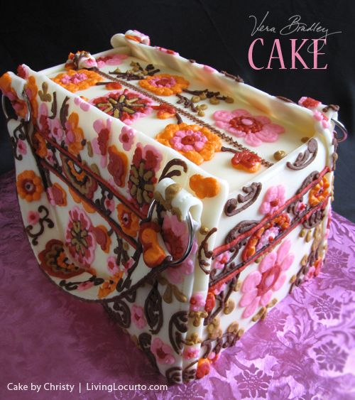 An amazing Vera Bradley Purse Cake. By Christy at C Star Cakes. Featured on LivingLocurto.com